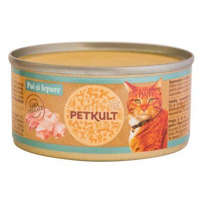 Petkult Cat Pui Cu Iepure 80 Gr.
