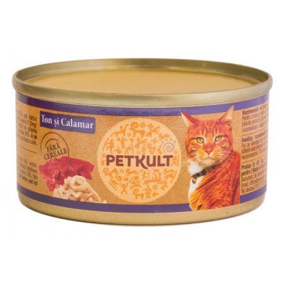 Petkult Cat Ton Cu Calamar 80 Gr.