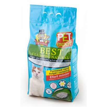 Nisip Pet Expert Clumping Natural 5 L