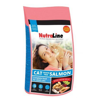 Nutraline Cat Grain Free Somon 10 Kg