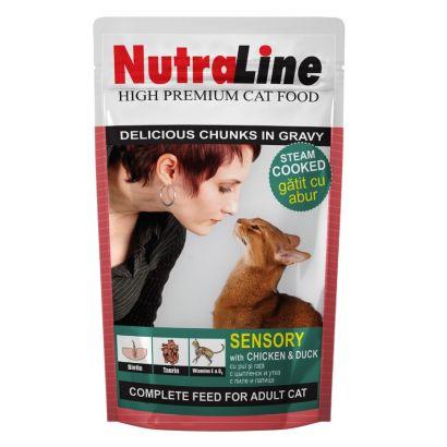 Plic Pisica Nutraline Sensory Pui/rata 100 G