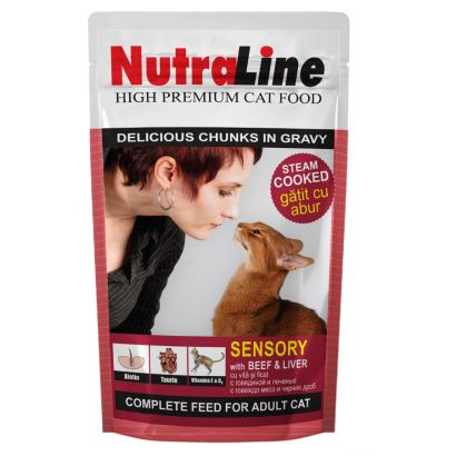 Plic Pisica Nutraline Sensory Vita/ficat 100 G