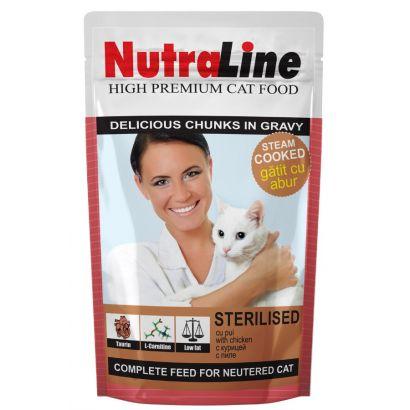 Plic Pisica Nutraline Sterilised 100 G