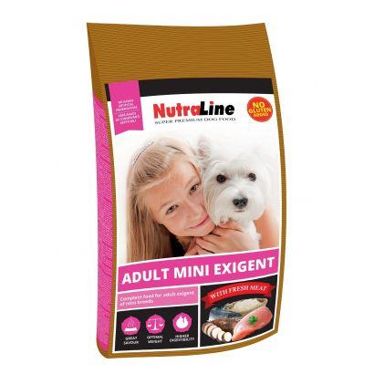 Nutraline Dog Adult Mini Exigent 8 Kg