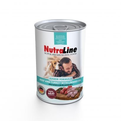 Nutraline Dog Conserva Junior Vita/curcan Ulei De In 800 G