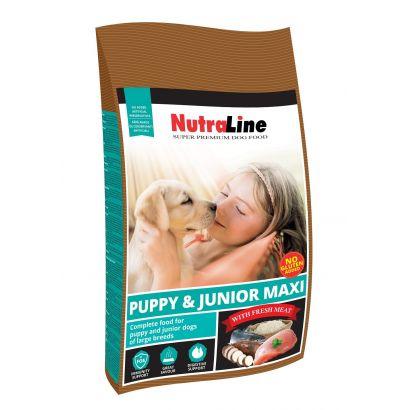 Hrana Caine Nutraline Puppy&junior Maxi 12.5 Kg