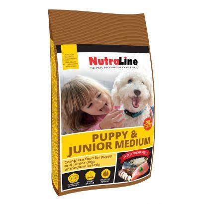 Nutraline Dog Puppy&junior Medium 12.5 Kg
