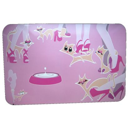 Pad Castron Pisici Glamour Pink 43x28 Cm 8045