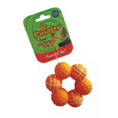 Paiatze Dog Inel Orange 6 Mingi Latex 0035/ 2435