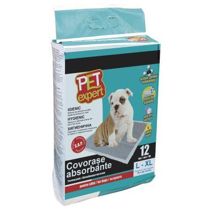 Pet Expert Covor Absorbant M Carbon 45 X 60 Cm/ 12 Buc