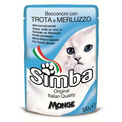 Plic Pisica Simba Pastrav/cod - 100gr