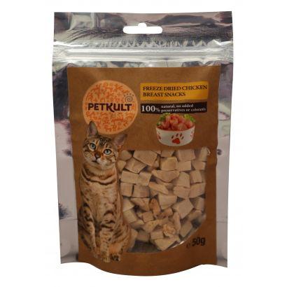 Petkult Cat Snack Piept Pui 50g Gr.