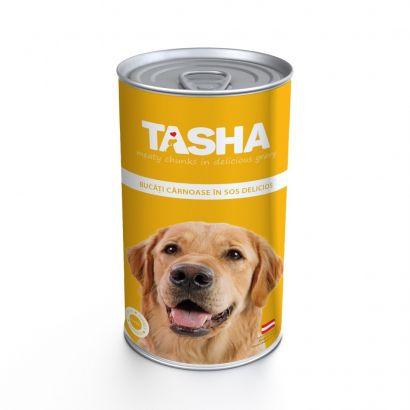 Tasha Dog Conserva Curcan - 12 Buc x 1240 G
