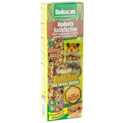 Baton Hamsteri Belcuore Cu Susan/biscuiti - 115 G