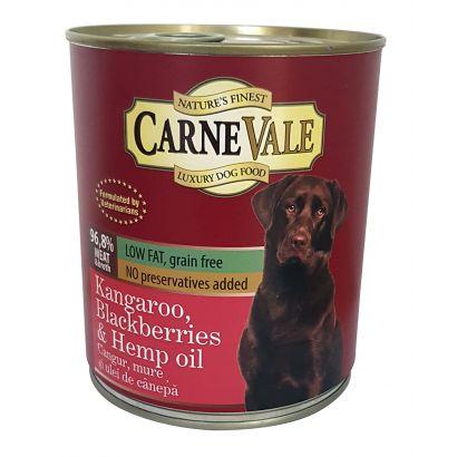 Carnevale Dog Conserva Cangur/Mure/Ulei Canepa 800 G