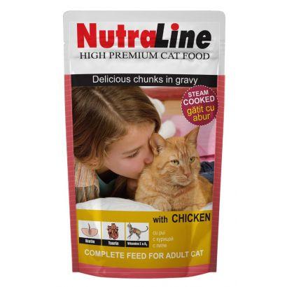 Plic Pisica Nutraline Classic Pui 100 G