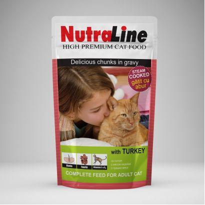 Plic Pisica Nutraline Classic Curcan 100 G