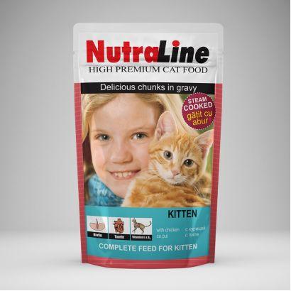 Plic Pisica Nutraline Classic Kitten 100 G