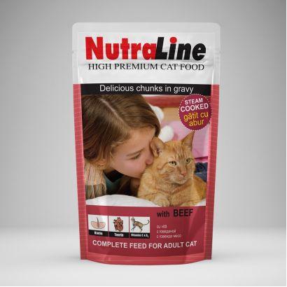 Plic Pisica Nutraline Classic Vita 100 G