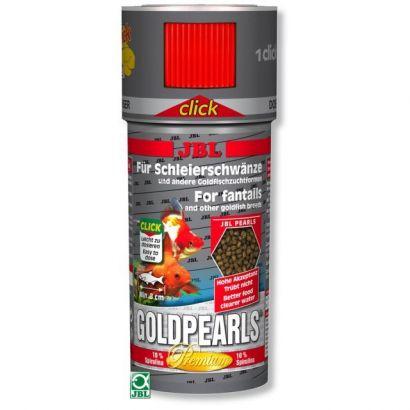 Hrana premium peleti pentru carasi JBL GoldPearls 250ml Click