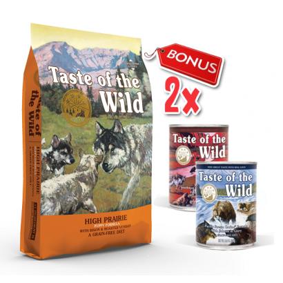Taste Of The Wild High Prairie Puppy - 12.2 Kg + 2 Conserve Taste of the Wild GRATIS