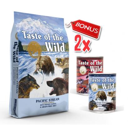 Taste Of The Wild Pacific Stream - 12.2 Kg + 2 Conserve Taste of the Wild GRATIS