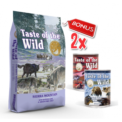 Taste Of The Wild Sierra Mountain - 13 Kg + 2 Conserve Taste of the Wild GRATIS