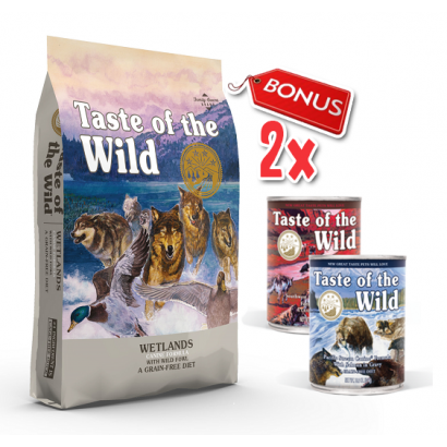 Taste Of The Wild Wetlands - 12.2 Kg + 2 Conserve Taste of the Wild GRATIS